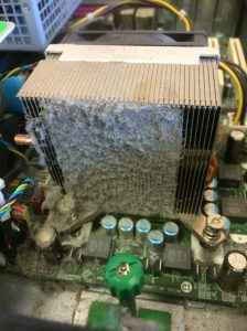 Pic of clogged CPU fan.